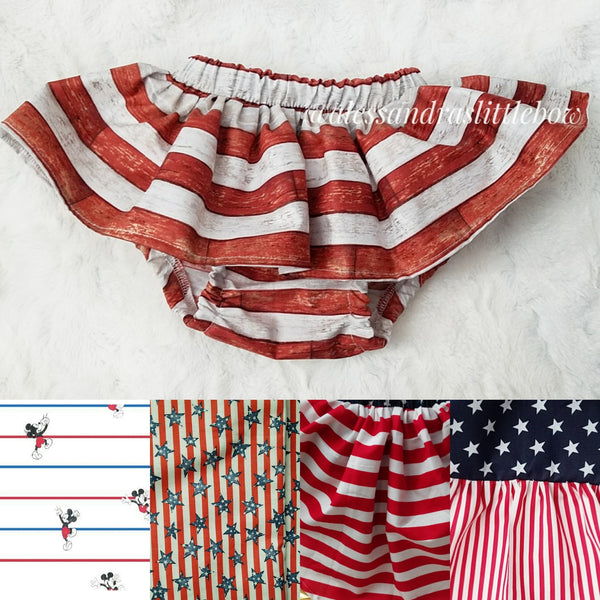 Patriotic skirted bloomers