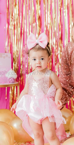 High Low Princess Sequin Romper