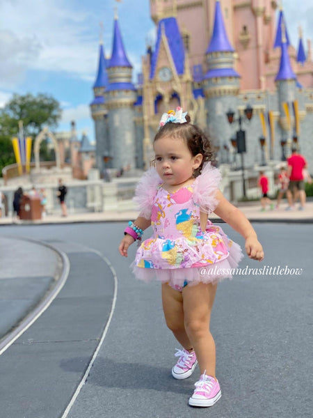 Princesses Flutter Skirted Romper