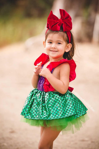 Ariel Luxury Skirted Tutu Romper