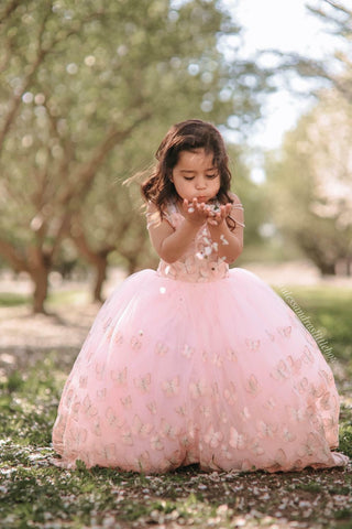 Blush Butterfly Couture Gown