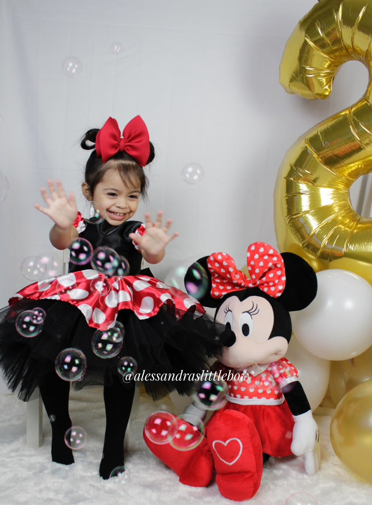 Minnie Mouse Couture Dress in Black and Red