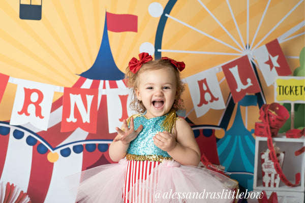 Red  Circus Ring Master Romper