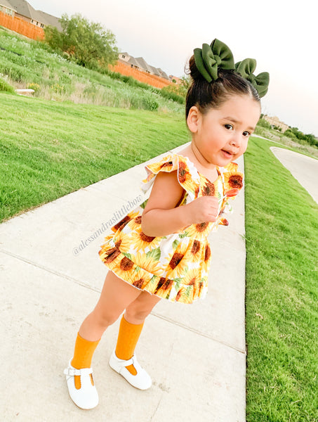 Sunflower Pinafore Romper