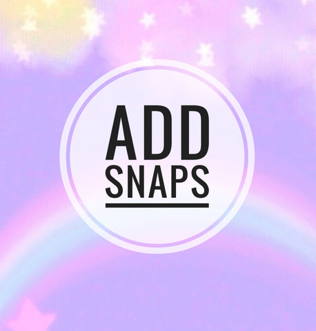 Add snaps - AlessandrasLittleBow