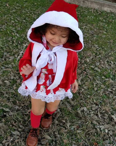 Santa Claus Cape - color choice - AlessandrasLittleBow