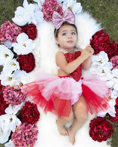Queen of Hearts tutu Romper