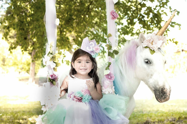 Unicorn Princess couture dress - AlessandrasLittleBow