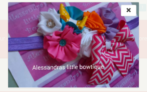 colorful girls headband - AlessandrasLittleBow - headband - children's boutique  -  -  -