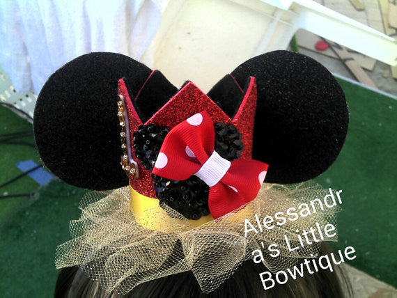 classic red minnie mouse birthday crown - AlessandrasLittleBow - crown - Alessandras Little Bow -  -  -