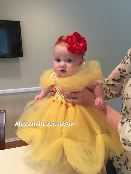 Belle tutu dress - AlessandrasLittleBow