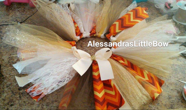 Thanksgiving tutu outfit - AlessandrasLittleBow