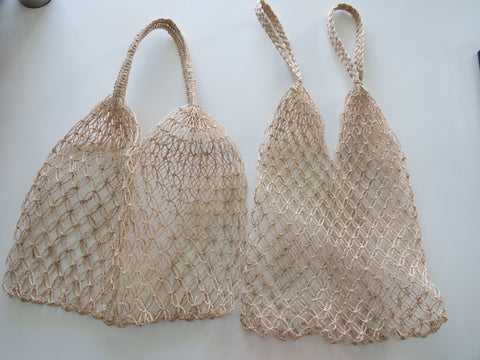 v-nets (2 pieces) 30x53cm and 38x53cm, twine