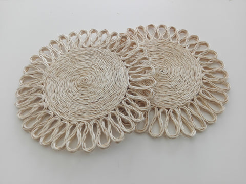 hot pads (2 pieces), 20cm, twine