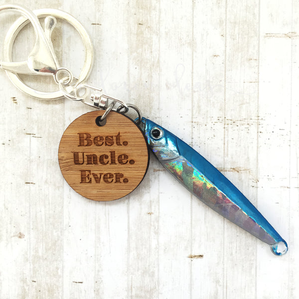 Fishing Keyring - Blue - Best Uncle Ever