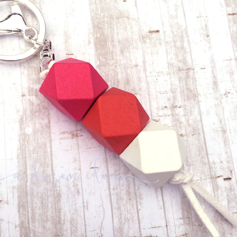 Geo Keyring - Orange Raspberry