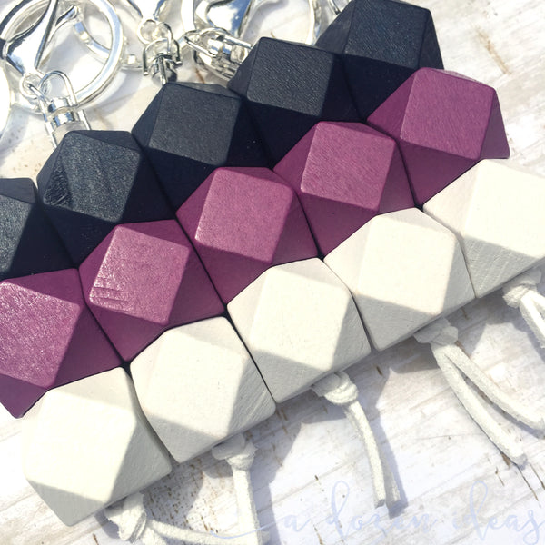 Geo Keyring - Blackberry Icecream