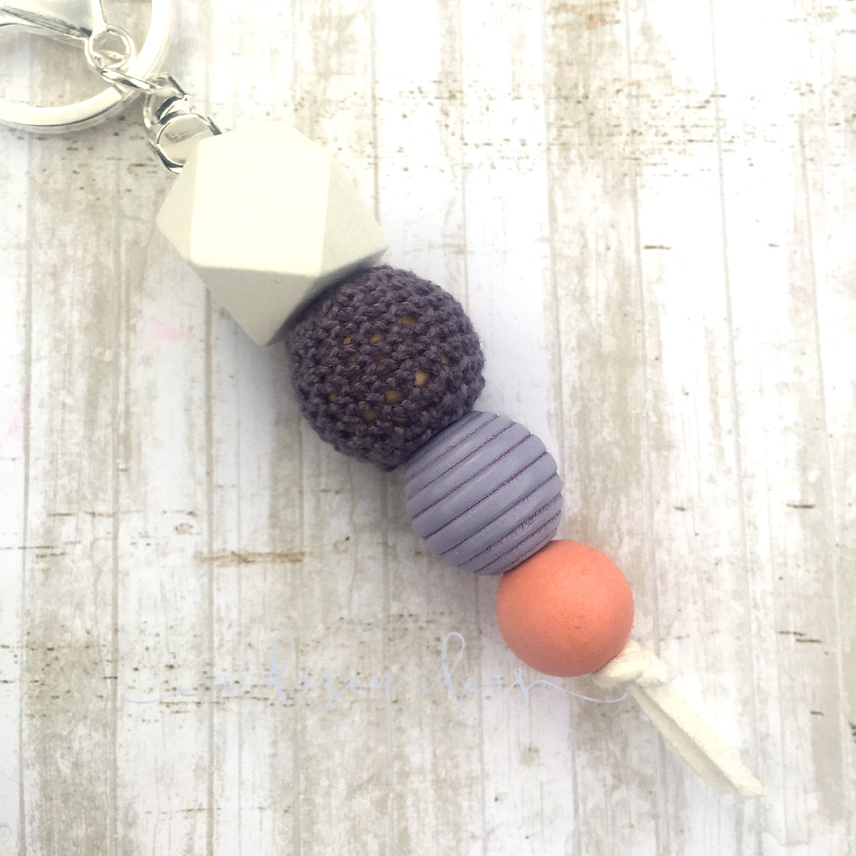 Geo Keyring - Blueberry Peach Crumble