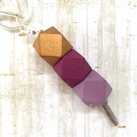 Geo Keyring - Plum Pudding
