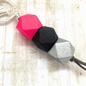 Geo Keyring - Raspberry Lemonade