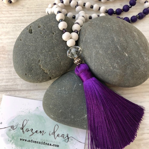 Tassel necklace - Lake Tekapo