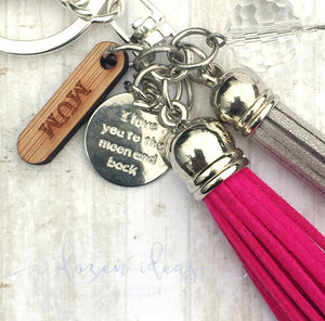 Tassel Keyring - Moon & Back - Mum version