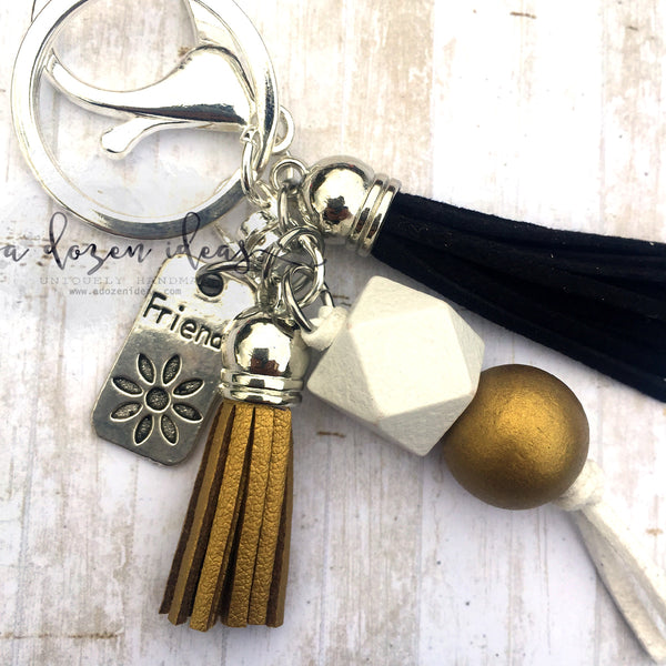 Tassel keyring - friends