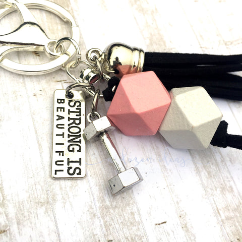 Inspo Keyring - Strong is Beautiful - Black