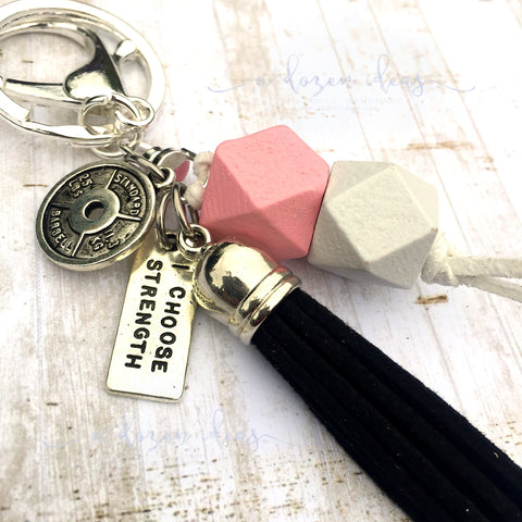 Inspo Keyring - I choose strength