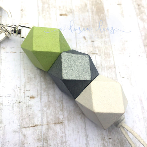 Geo Keyring - Key Lime Pie