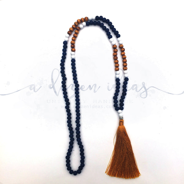 Tassel Necklace - Waihi (navy)