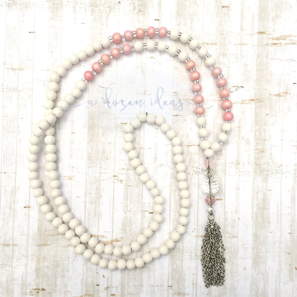 Tassel Necklace - Nic's Design - Coronet Peak (pink)
