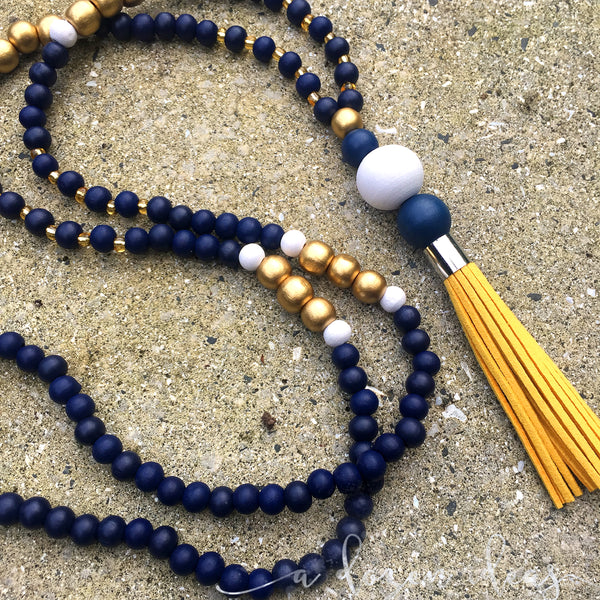 Tassel Necklace - Nic's Design - Golden Bay leather