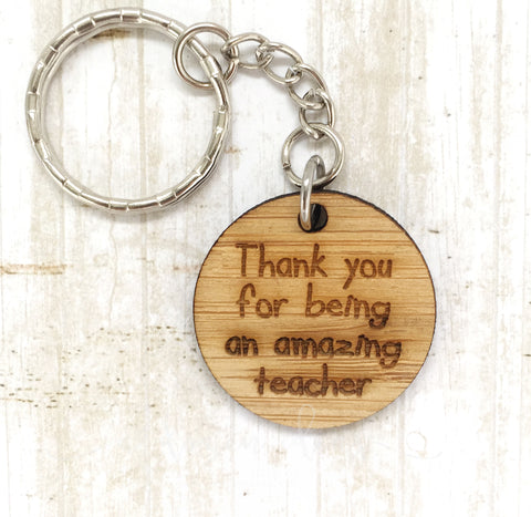 Tag Keyring - Thank you for being an amazing teacher