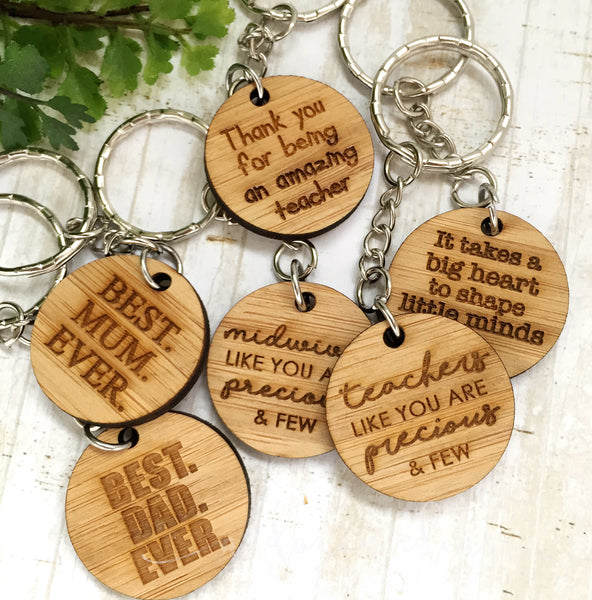 Tag Keyring - Teachers like you are precious & few