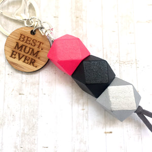 Geo Keyring - Raspberry - Best Mum Ever version