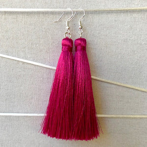 Tassel Earrings - Azalea