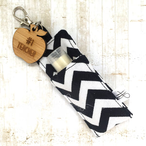 Bagclip with chapstick - Zigzag - #1 Teacher