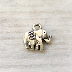 Add on metal charm - elephant