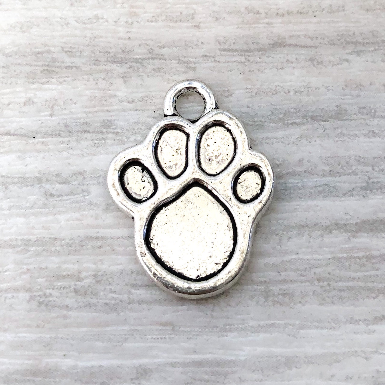 add on metal charm - Paw print