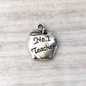 metal charm - No 1 apple