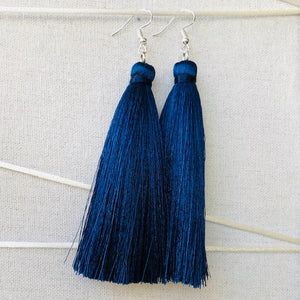 Tassel Earrings - Forget me Not