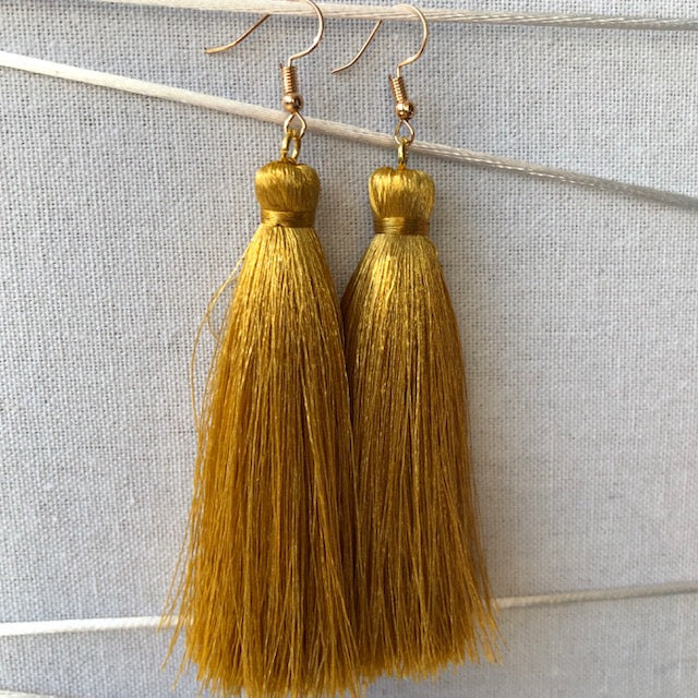 tassel earrings - Kowhai