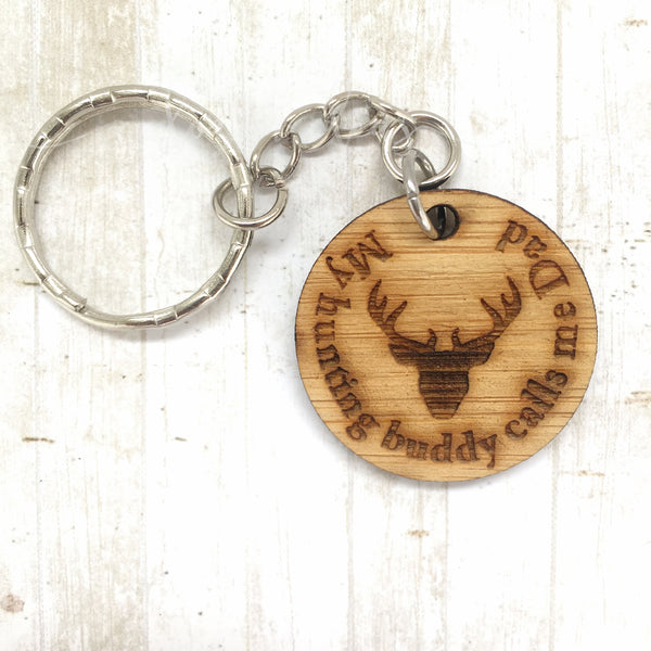 Tag Keyring - My hunting Buddy - Stag