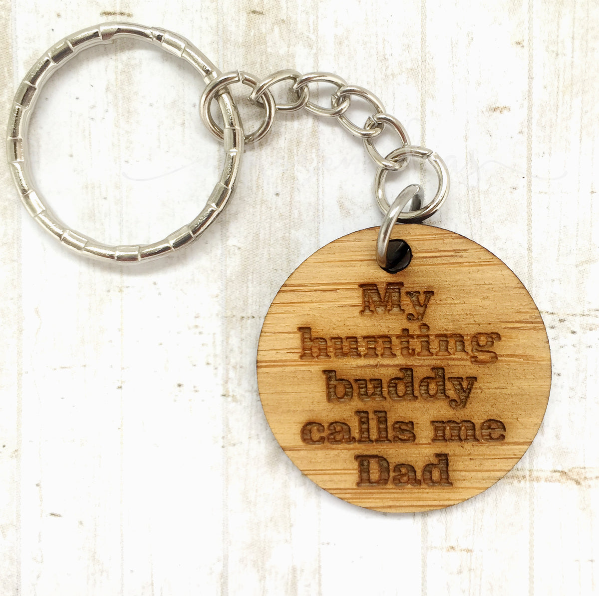 Tag Keyring - My hunting buddy calls me Dad