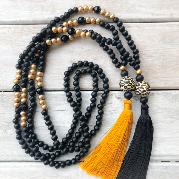 Tassel Necklace - Waitemata Black