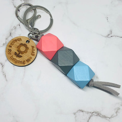 geo keyring - Peach Pie - Thanks for helping me grow version