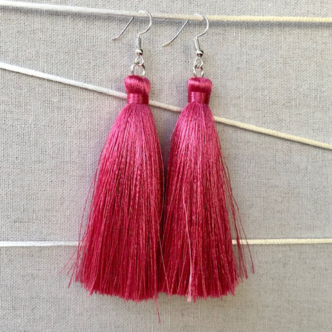 Tassel Earrings - Peony