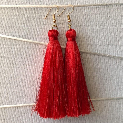 Tassel Earrings - Gerbera