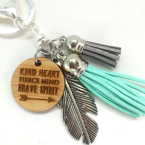 Tassel  Keyring - Kind Heart